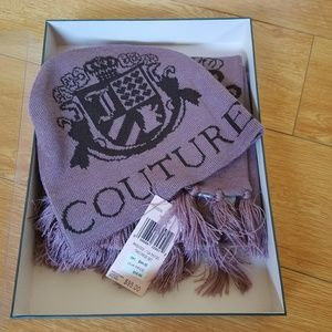 Juicy Couture Hat and Scarf Set